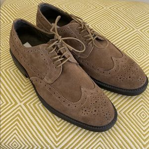 Joseph Abboud Suede Leather Wing Tip Dress Shoes